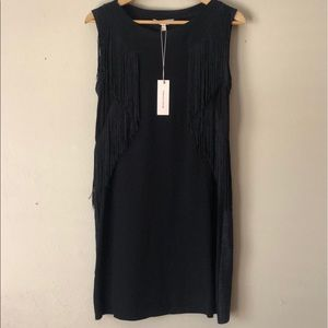Rebecca Taylor Fringe Dress XS NWT Jersey Dress